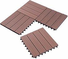 1er WPC Holz Fliese Terrassenfliesen klicksystem