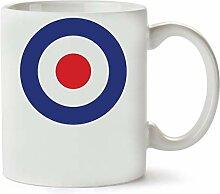1GD Raf Roundel Mod Vespa Symbol Classic Tea