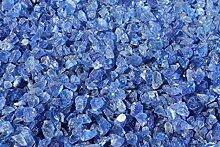 1kg Glas Splitt 5-10mm blau