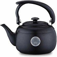 1L Edelstahl Teekanne Küche Teekessel Metall Herd