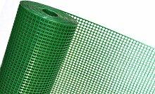 1m² MASCHENGEWEBE in 1m Breite x 1m Kunststoffzaun Schutzgitter für Kleintiere Windschutz- Gartenzaun Masche 6mm x 9mm grün (METERWARE) OP08/100