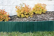 1m Palisadenzaun Zaun Palisade Beetumrandung Rasenkante Top Qualität (Grün)