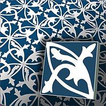 1m² Zementfliesen Mondial dunkelblau - Handarbeit