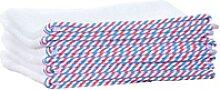 1o1BARBERS Barber Towel White/Red/Blue 40x80cm