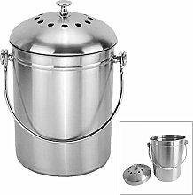 1pc Komposteimer - Edelstahl Kompostbehälter für
