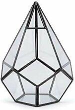 1pc Ransparent Glas-Pyramide Aerium 16x18cm,