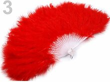1pc Roten Feder Hand Fan, Karneval Zubehör,
