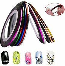 1pcs 1mm 20m Nail Art Streifen Tape Line Aufkleber Nagel Kunst Schönheit Dekoration Werkzeuge zufälligen Farbe