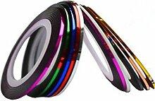 1pcs 2mm 20m Nail Art Streifen Tape Line Aufkleber Nagel Kunst Schönheit Dekoration Werkzeuge zufälligen Farbe