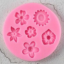 1PCS Blumen Form Silikonform Fondant Kuchen