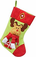 1pcs des neuen Jahres Weihnachtsstrümpfe Socken Weihnachtsmann Süßigkeit Geschenk Beutel Dekoration Elk