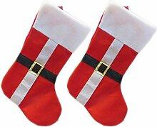 1pcs des neuen Jahres Weihnachtsstrümpfe Socken Weihnachtsmann Süßigkeit Geschenk Beutel Dekoration