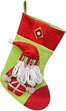 1pcs des neuen Jahres Weihnachtsstrümpfe Socken Weihnachtsmann Süßigkeit Geschenk Beutel Dekoration Weihnachtsmann