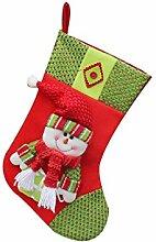1pcs des neuen Jahres Weihnachtsstrümpfe Socken Weihnachtsmann Süßigkeit Geschenk Beutel Dekoration Schneemann