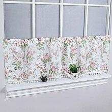 1pcs - Plaid Tier Vorhänge Halbe Küchenfenster