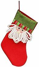 1pcs Weihnachtsdekorationen Weihnachtsmann Schneemann Süßigkeit Socken Geschenke Tasche Dekoration Weihnachtsmann