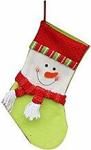 1pcs Weihnachtsdekorationen Weihnachtsmann Schneemann Süßigkeit Socken Geschenke Tasche Dekoration Schneemann