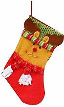 1pcs Weihnachtsdekorationen Weihnachtsmann Schneemann Süßigkeit Socken Geschenke Tasche Dekoration Elk