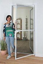 1PLUS Insektenschutz Alu Spannrahmen System premium für Türen, in verschiedenen Größen und Farben verfügbar (100 x 215 cm, Anthrazit)