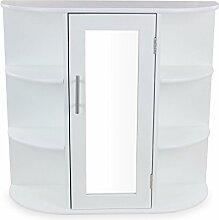 1PLUS Landhaus Badezimmerschrank Spiegelschrank