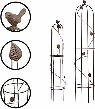 1PLUS Metall Rankhilfe Obelisken Set, 2 Stück,