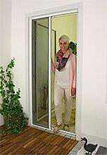 1PLUS Premium Aluminium Insektenschutz Rollo für Türen in verschiedenen Größen und Farben Farben (160 x 250 cm, Weiß)