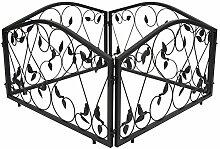 1PLUS Rankgitter Beetzaun Rankzaun Rankhilfen , 4 Zaunelemente Set, 4 x 57,5 x 46 x 1,4 cm, in verschoiedenen Varianten (Clark)