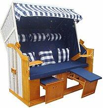 1PLUS Strandkorb XXL (inkl. Schutzhülle) in versch. Designs (Blau)
