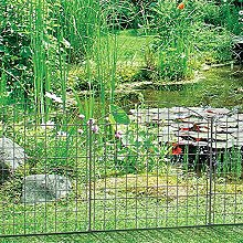 1PLUS Teich-, Garten- oder Campingzaun Set, Anthrazit (Oberbogen)