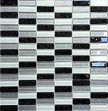1qm Glas Mosaik Fliesen 30cm x 30 cm Matte in