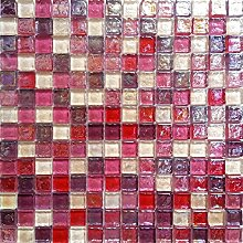 1qm Glas Mosaik Fliesen Matte in Bonbon Farben mit