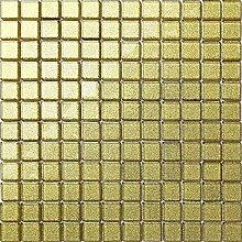 1qm Glas Mosaik Fliesen Matte in Gold MT0080 m2