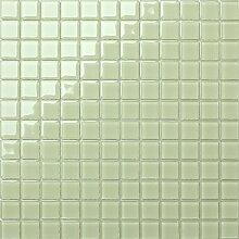 1qm Glas Mosaik Fliesen Matte in hellem Grün