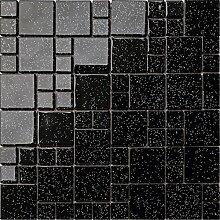 1qm Glas Mosaik Fliesen Matte Steine in Zwei