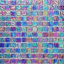 1qm Glas Mosaik Fliesen Matte Violett mit