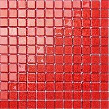 1qm Rot mit glitzer Glas Mosaik Fliesen Matten