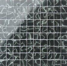 1qm Schwarz Holografie Glas Mosaik Fliesen Matte