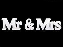 1set Eiß Holzdekoration Mr. Und Mrs,
