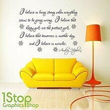 1Stop Graphics Shop - Audrey Hepburn I Believe
