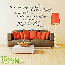 1Stop Graphics Shop - Bob Marley Wandaufkleber