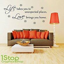 1Stop Graphics Shop - Leben Liebe Wandaufkleber