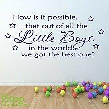 1Stop Graphics Shop - Little Jungen Wandaufkleber