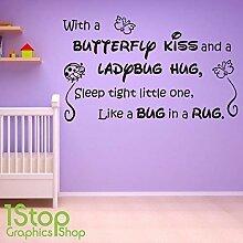 1Stop Graphics Shop - Mit einem Schmetterling Kuss