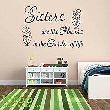 1Stop Graphics Shop - Sisters sind wie Blumen