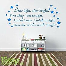 1STOP Graphics Shop - Sternenlicht Star hell Wandaufkleber Zitat - Kinder Jungen Mädchen Wandkunst Aufkleber X192 - Gold, Large