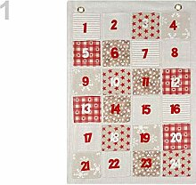 1stück 1 Naturfarbe Hell Textiler Adventskalender