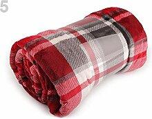 1stück 5 Rot Kuscheldecke Flannel Fleece 150x200