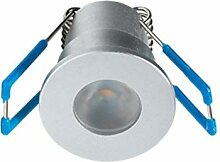 1W LED Mini Einbaustrahler, Aluminium, IP65