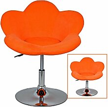 "1x Barhocker ""orange Blume"" in Blumenform Lounge Sessel Barsessel Clubsessel Cocktailsessel Drehsessel"