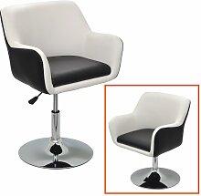 1x Barhocker Design Lounge Sessel in Schwarz-Weiß Barsessel Clubsessel Drehsessel D07